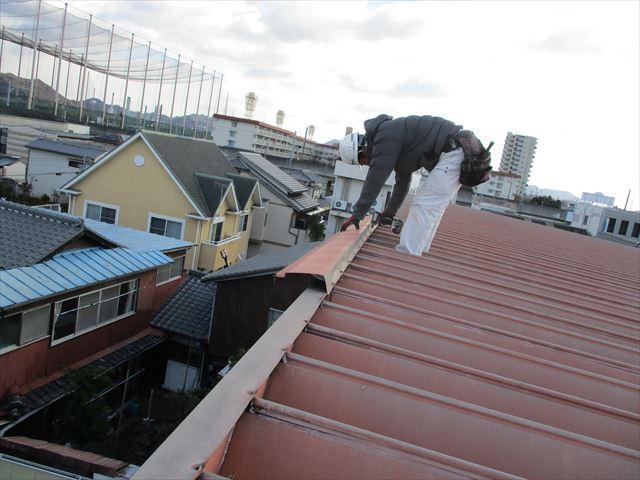 姫路市の屋根板金の取り外し作業