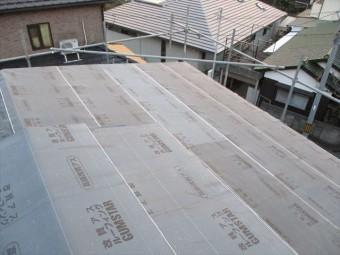 姫路市の屋根葺き替えルーフィング