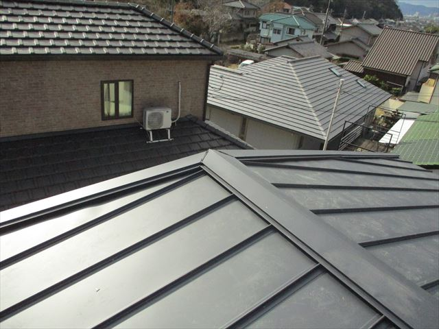 姫路市屋根葺き替え棟部分写真