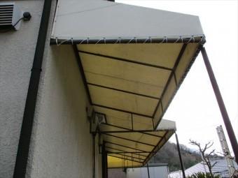 姫路市屋根葺き替えテント復旧