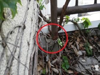 明石市の台風で足元部分が破損してしまった手すり