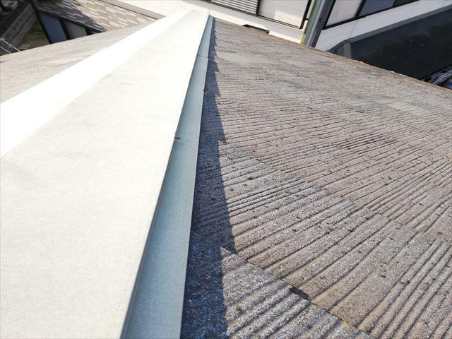 加古郡播磨町の雨漏り無料点検の棟板金の釘浮き