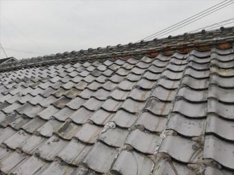 相生市の雨漏り調査の劣化した瓦屋根