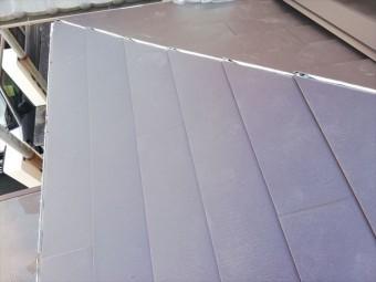 高砂市の屋根葺き替え工事の下屋の施工の写真