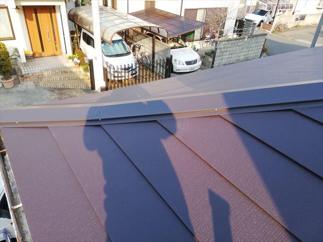 高砂市の屋根葺き替えの大屋根の完工写真