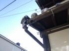 姫路市で破損して外れてしまった雨樋の集水器