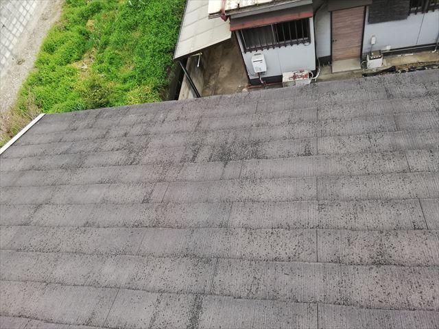 姫路市の無料点検のスレート屋根塗膜の劣化状況