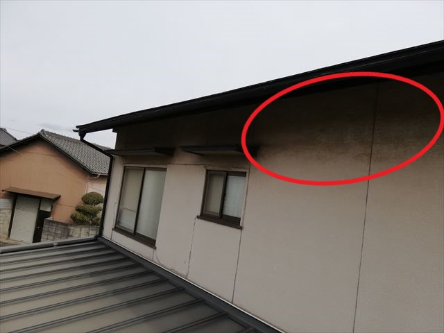 姫路市の無料点検の外壁塗膜の劣化