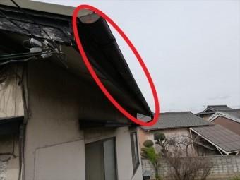 姫路市の無料点検の軒樋の劣化