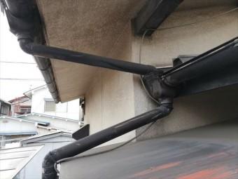 姫路市の無料点検の雨樋の劣化状況の写真