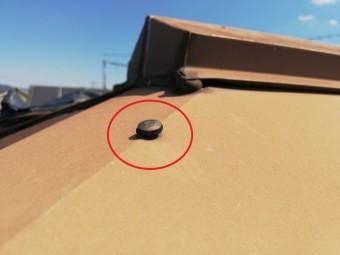 屋根板金の釘浮き
