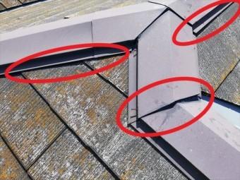 姫路市の無料点検のスレート屋根の釘浮きと板金浮き