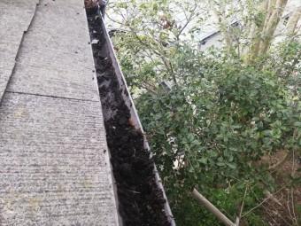 神戸市の屋根無料点検の軒樋の土