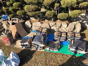 姫路市の葺き替え工事に使う新しいいぶし瓦