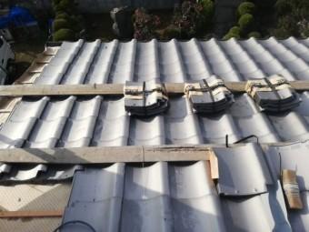 姫路市の瓦葺き替え工事のいぶし瓦