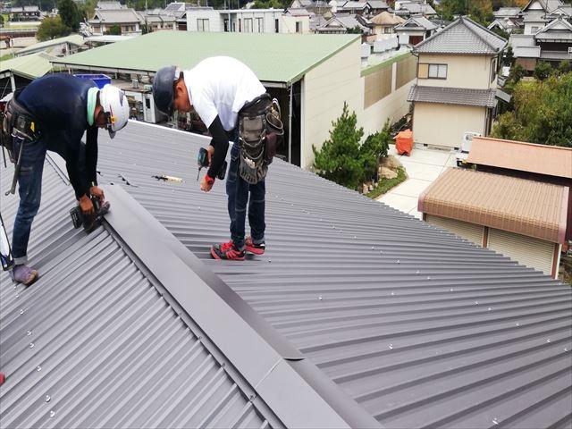 スレート屋根 カバー工法