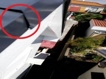 明石市で台風で被害を受けたケラバ板金