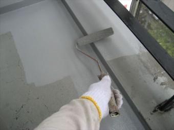 ウレタン防水 再塗装