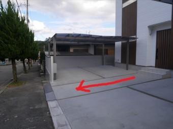 駐車場 水勾配