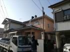 高砂市の屋根葺き替え工事の既存屋根撤去