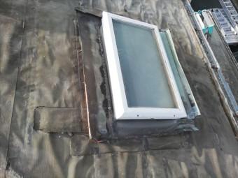 高砂市の葺き替え工事の撤去予定の天窓