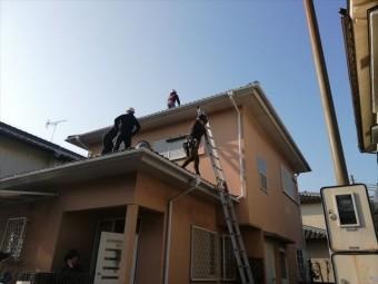 高砂市の屋根葺き替え工事の着工