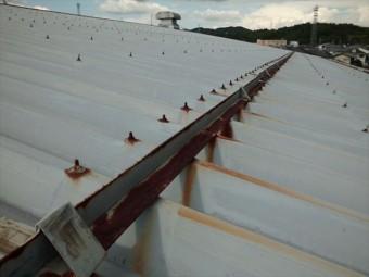 工場や倉庫で使われる折板屋根に発生した錆