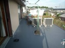 姫路市の塩ビシート防水作業完了写真