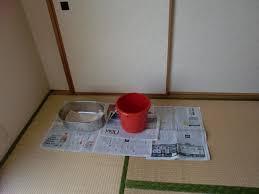 雨漏り応急処置